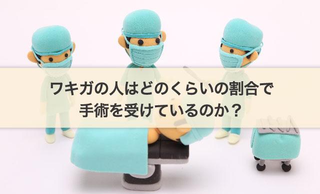 ワキガの人はどのくらいの割合で手術を受けているのか?