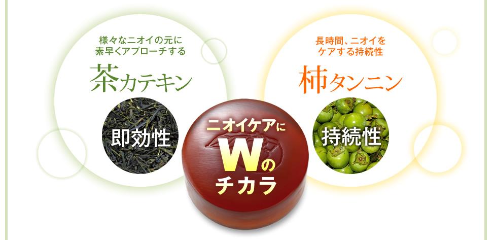 薬用柿渋エチケットソーププレミアムを実際に使って口コミしました。