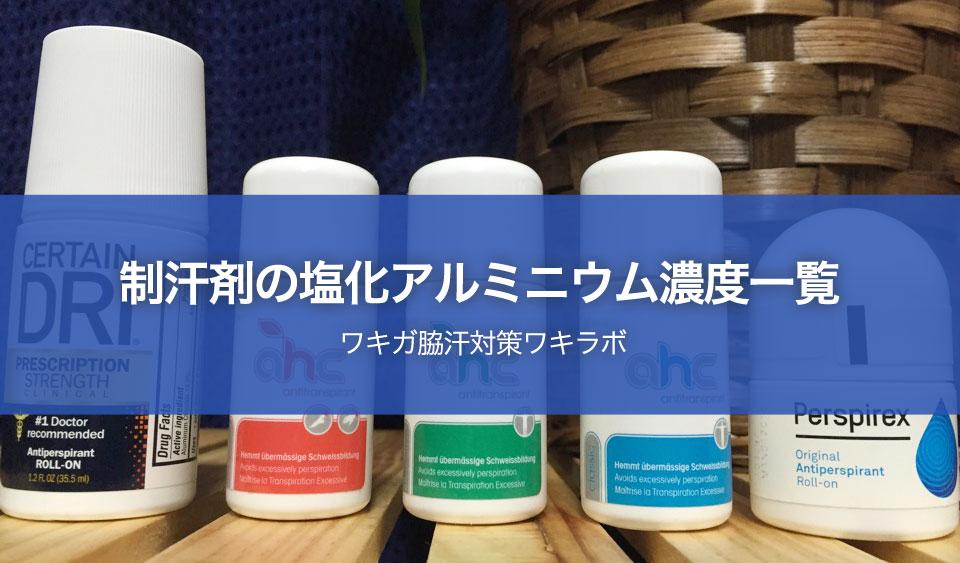 塩化アルミニウム液が濃い制汗剤(市販&通販)一覧【わきが脇汗対策】