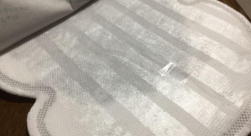 cadiのさらさらcoolパットは大きいから脇汗を十分に吸収する