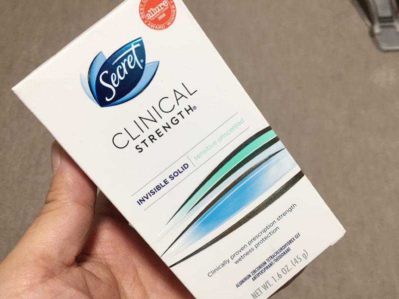 シークレットクリニカルストレングス【無香料/敏感肌用】を使用した口コミ
